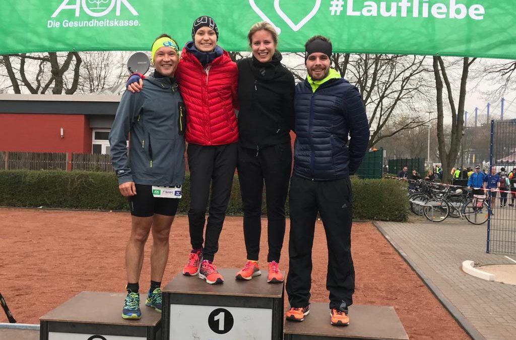 Triathlon Team Düsseldorf erfolgreich bei AOK Winterlaufserie des ASV Duisburg